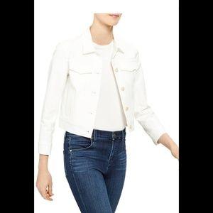 Hollister White Cropped Jacket Size M